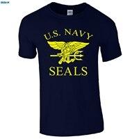 Gildan البحرية الامريكية الأختام t-الرجعية الولايات سلاح الجو المارينز يتوهم اللباس رجالي هدية أعلى 100% ٪ إلكتروني طباعة القمصان
