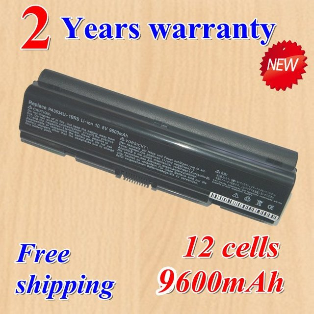 High quality  new 12 Cell Laptop battery for Toshiba Satellite A300, A300D, A305, A305D, 355D Series black +gift