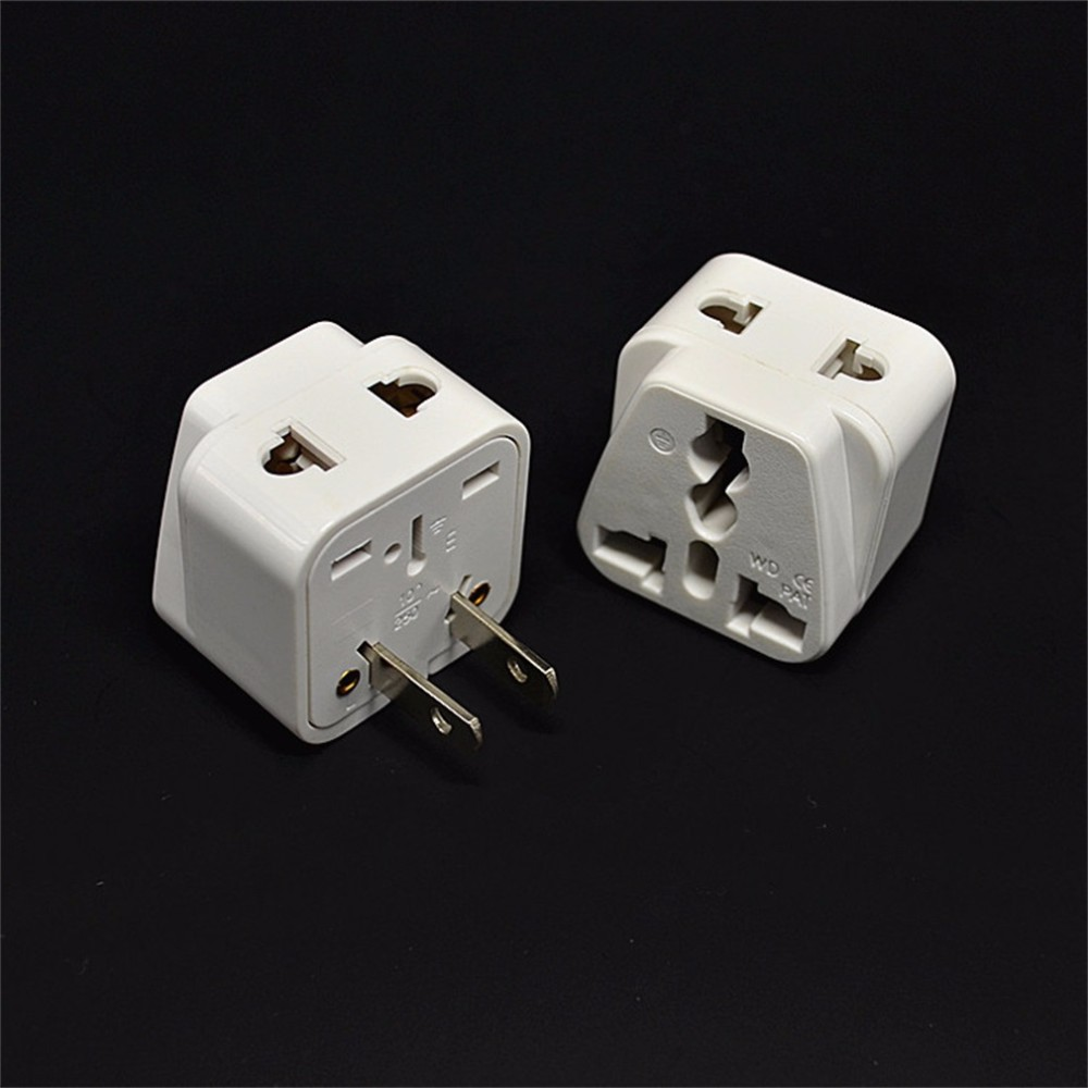 In Stock 2 Pin Ac American Usa Power Plug Adapter Travel Converter Uk Electrical Wire Eu Australia Wholesale Hot New Promotion