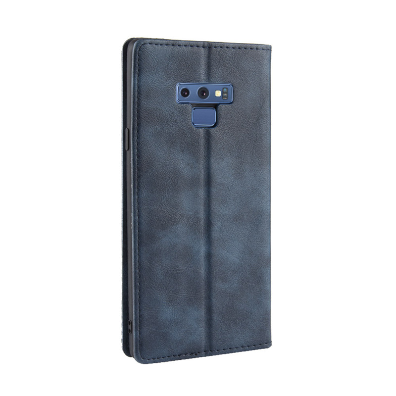 PU Leather Case For Samsung Galaxy Note 9 Cover Netting Protector Magnetic Etui Coque For Samsung Note 9 Flip Case Fundas in Flip Cases from Cellphones Telecommunications