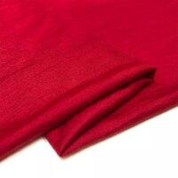 Высокое качество ухода за кожей тонкая кожа камвольно эластичный вязаный шерстяной кашемировый свитер импортные ткани красное платье ткан...