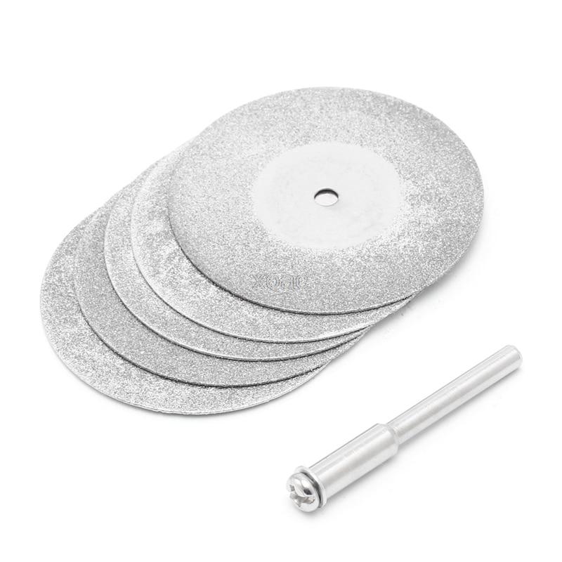 5pcs/lot Dremel Accessories Diamond Grinding Wheel Saw Circular Cutting Disc Dremel Rotary Tool Diamond Discs   M12 Dropship