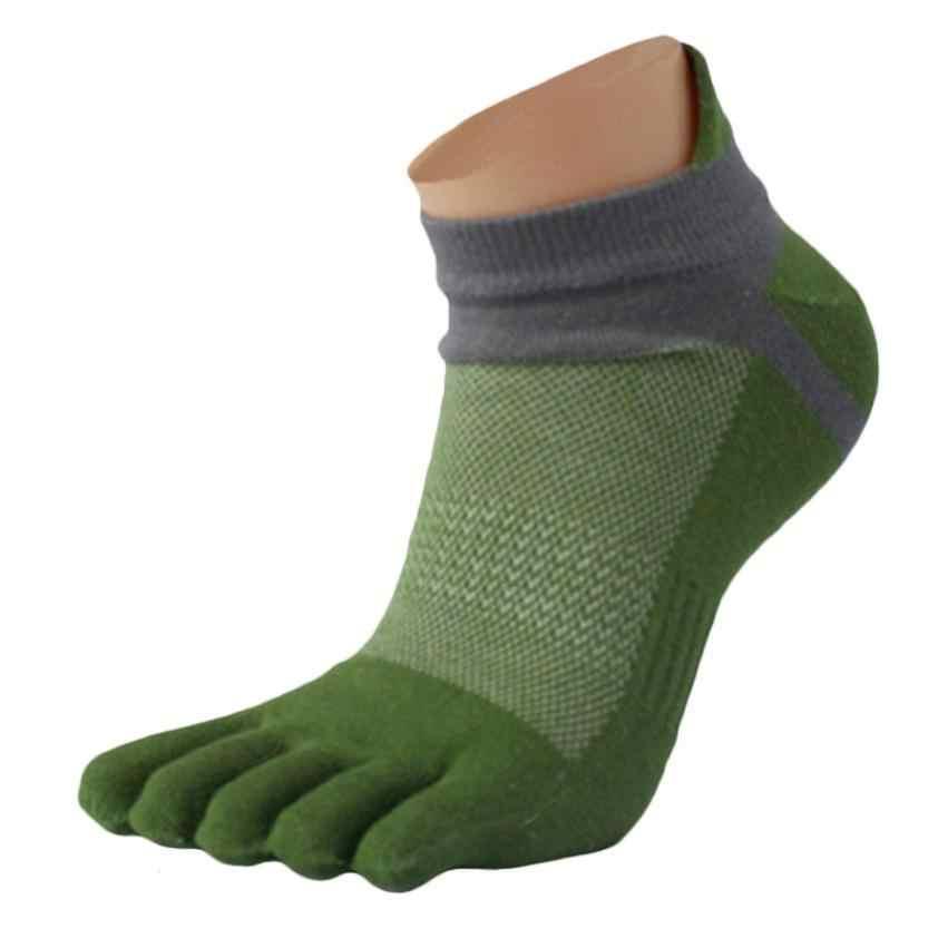 Beş Parmak Ayak Erkekler Çorap Pamuk deportes kısa tüp Örgü parmak Meias Polyester erkek çorap Spandex esneklik Esnek Nem