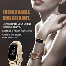 GIAUSA Smart Watch Fashion Women Ladies Band Heart Rate Monitor Smartwatch Wristband relogio inteligente For Android IOS