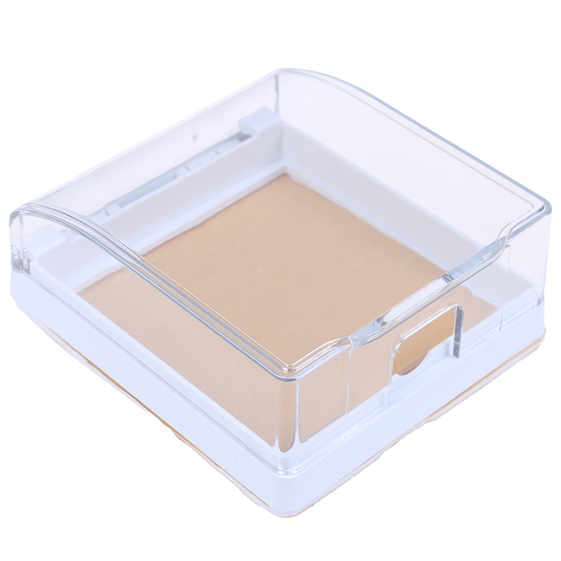 1PCS Wall Switch Waterproof Cover Box Wall Light Panel Socket Doorbell Flip Cap Cover Clear Bathroom Kitchen Accessory