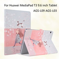 Fashion Painted Flip PU Leather For Huawei MediaPad T3 10 AGS L09 AGS L03 9 6