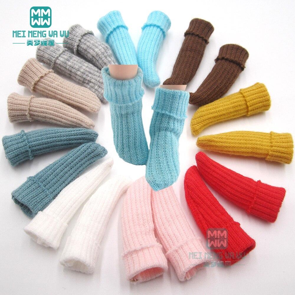 1/6 blyth кукла Azone аксессуары для одежды модные конфетные носки розовый, красный, синий, хаки
