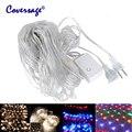 Coversage 2x3 M 4x6 M Guirlandas De Natal LED String Fada Luzes de Natal Net Xmas Garden Party Decoração de casamento Luzes Da Cortina