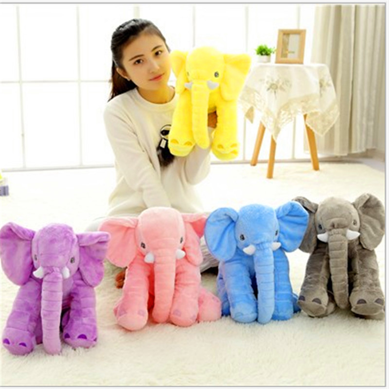 60cm Coral fleece Baby Animal Elephant Style Doll Stuffed Elephant Plush Pillow Kids Toy Children Room Bed Decoration Toys 1 pcs lucky boy sunday 60cm elephant plush toy cute big size stuffed kids toy baby elephant pillow girlfriend children christmas gift