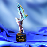 Eagle Shaped Glass Trophy Sports Events Awards Sport Souvenirs Games Champions Awards Cups Singing Contest Rewards