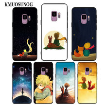 For Samsung Galaxy Note 9 8 S10 S9 S8 Plus Lite S7 S6 Edge S5 Mini Black Silicone Phone Case The Little Prince With the fox Styl