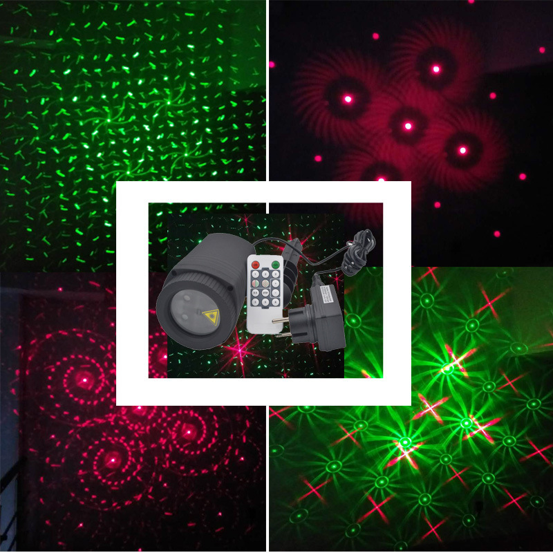 Luces del proyector láser de Navidad al aire libre a prueba de agua - Iluminación de vacaciones - foto 4
