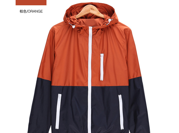 Windbreaker Men Casual Spring Autumn Lightweight Jacket 19 New Arrival Hooded Contrast Color Zipper up Jackets Outwear Cheap 9