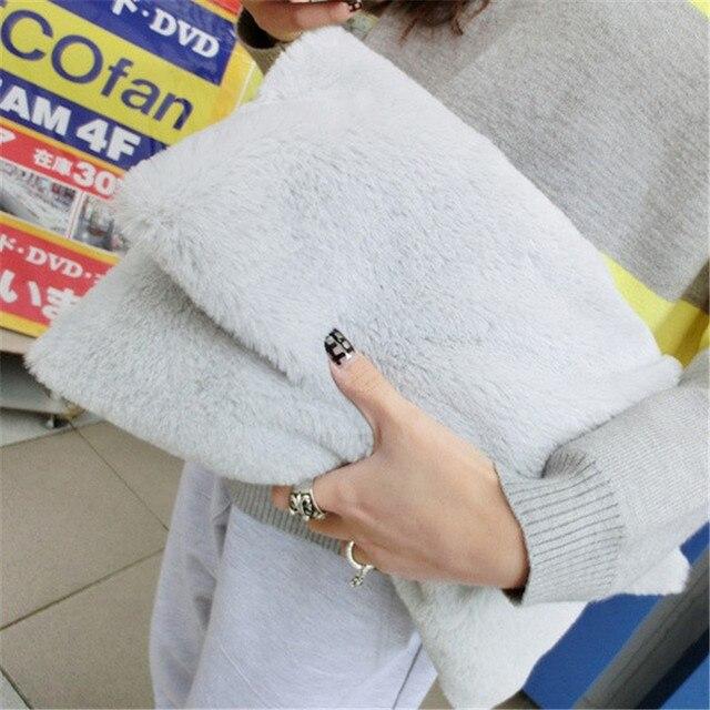 Модные зимние искусственная Меха клатч для девочек Crossbody Сумки женские сумки дизайнерские женские клатчи плеча сумки
