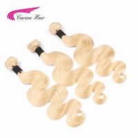 Carina Hair Pure Malaysian Body Wave Human Hair 3pcs Blonde Hair Weft 613 Remy Hair Weave