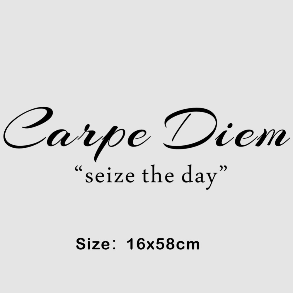 Classics Seize the Day Inspirational Quotes Wall Stickers Vinyl Wall Decal Art Mural for Home Decor