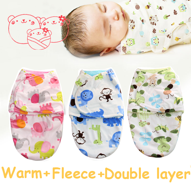 wrap soft flannel parisarc newborn swaddle baby products double layer Blanket & Swaddling Warm Winter Autumn Polar Coral fleece