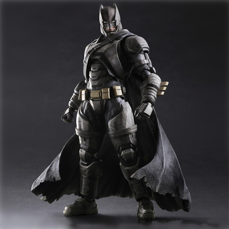 Dawn of Justice The Dark Knight ARMORED BATMAN PVC Action Figure Anime Crazy Kids Toys Collectible Figure Model Doll 25CM playarts kai batman arkham knight batman blue limited ver brinquedos pvc action figure collectible model doll kids toys 28cm