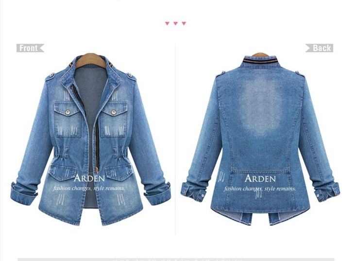 Jeans Femmes Veste Pu Bolero Feminina Plus Ciel Taille Grande Denim Chaquetas 5xl Jaqueta Mujer WFqt06Tnw
