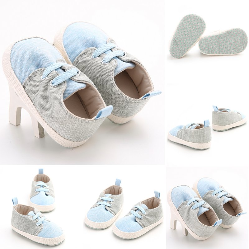 2018 Baby Shoes Kids Casual Baby Boys Patchwork First Walkers Soft Soled Prewalkers Shoes Lace-up Footwear