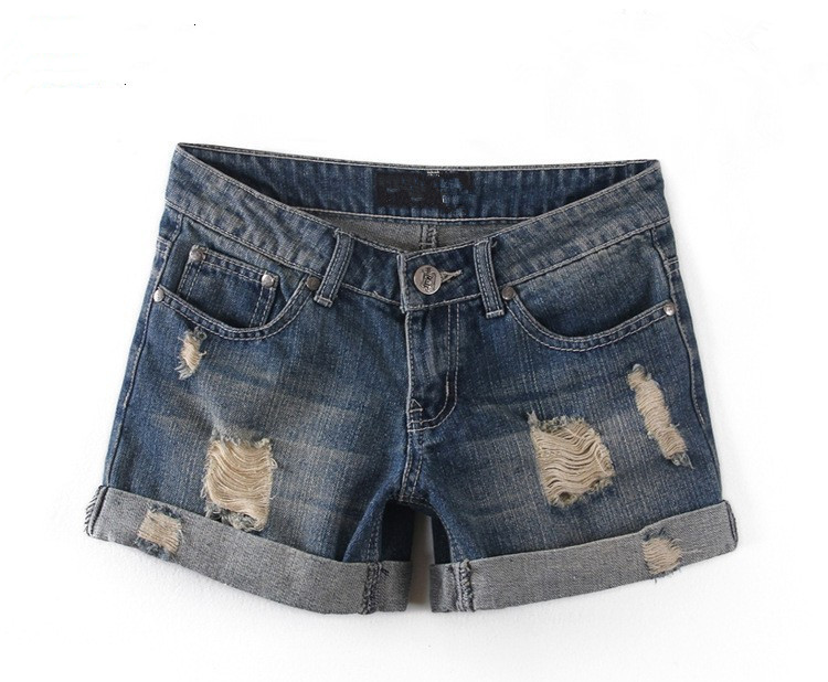 2018 New Korean Style Summer Vintage High Waisted Denim Women Shorts Plus Size Slim Stretch Female Jeans Shorts bermuda feminina