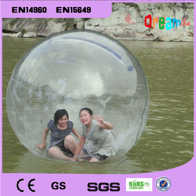 Cheap Free shipping!Water walking ball 2M diameter 0.8mm PVC inflatable ball/water ball walk/zorb ball/inflatable human hamster