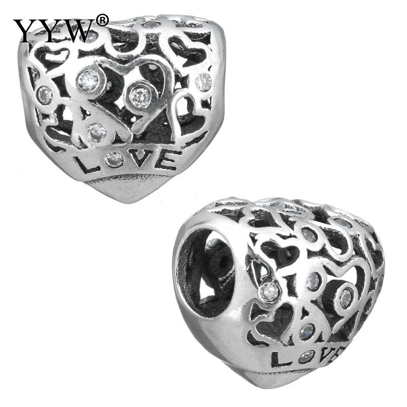 NEW Fashion 100% 925 Sterling Silver Heart 2017 Charm Beads Fit Original Silver Charm Bracelet Authentic S925 DIY Fine Jewelry