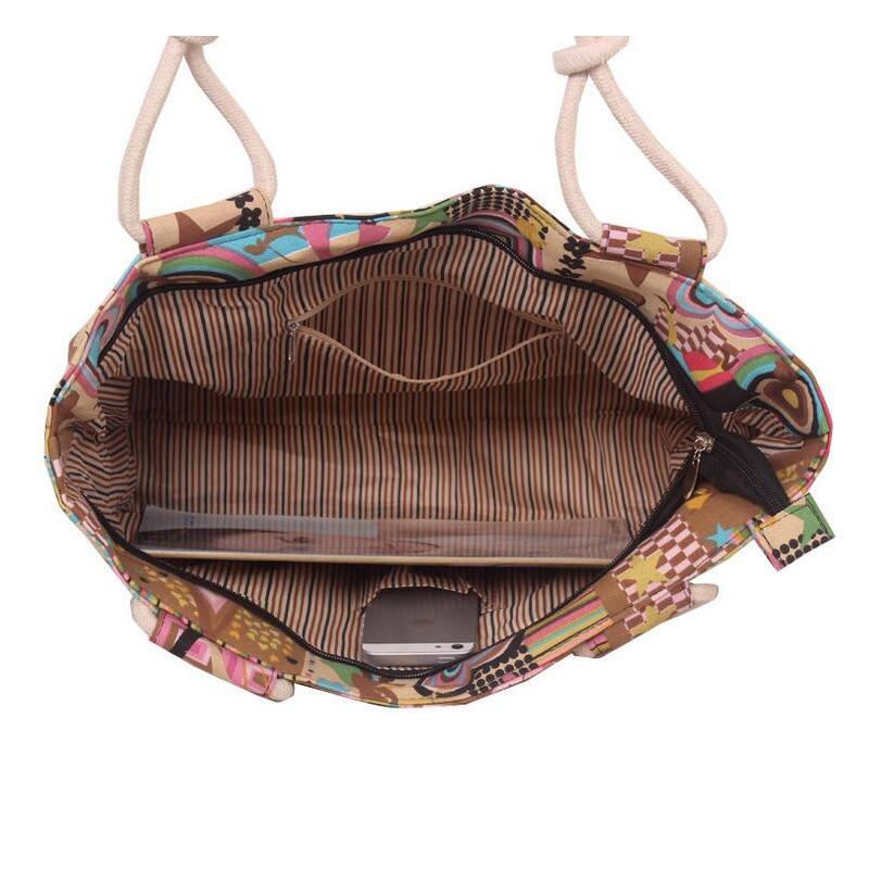 2017 High Quality Large Capacity Shopping Mummy Bag Folding Canvas Women's Stripes Large Beach Bags Handbag Shoulder Bag SH124