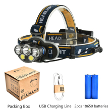 XML-T6+COB 5leds/7leds LED Headlight 18000lm LED Head Light Lamp Tube Torch Flashlight+USB Cable+18650 Battery sitemap 165 xml