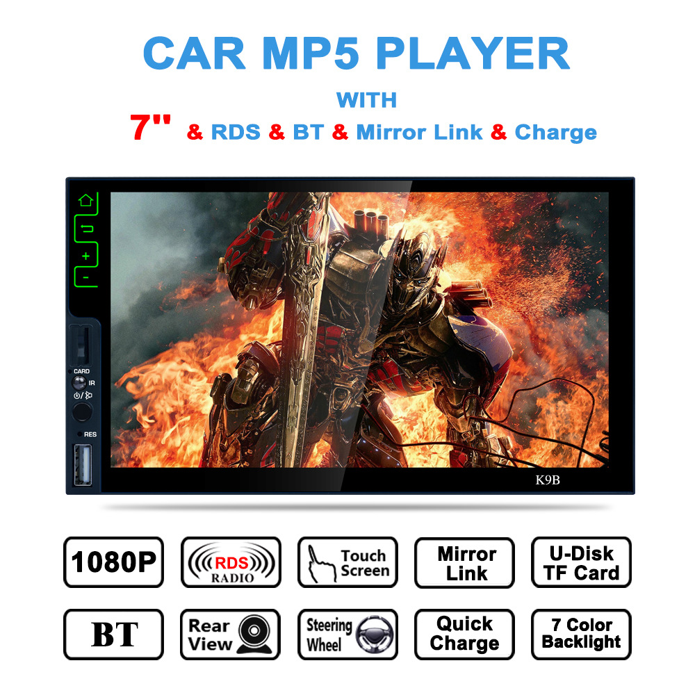 Auto Electronic 2 Din Touch Screen Car Stereo Radio Player In Dash 7 Inch Bluetooth Car MP5 Player Support FM/MP5/USB/AUX/Camera steering wheel control car radio mp5 player fm usb tf 1 din remote control 12v stereo 7 inch car radio aux touch screen