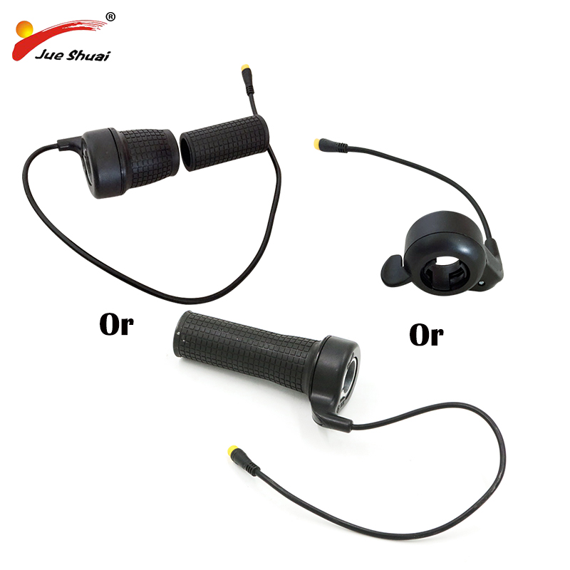 Ebike Electric Bicycle Throttle 36V 48V Finger Thumb Twist Throttle E Bike Speed Throttles Electric Bicycle Hub Motor Parts