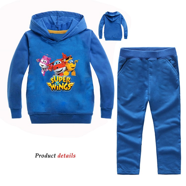 Z&Y 2-14Years Tiny Cottons 2018 Costume Jett Super Wings Set Toddler Fall Clothes Boys Clothing Unisex Pullover Coat Sportsuit