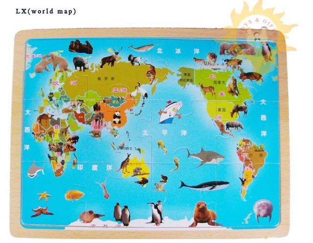 Wooden toys jigsaw puzzle world mapeducational toyspreschool wooden toys jigsaw puzzle world mapeducational toyspreschool kidschildren gumiabroncs Gallery