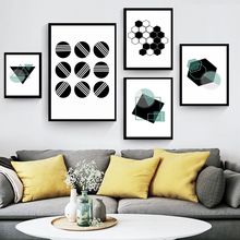 Nordic Abstract Geometric Black and White Decoration Canvas Posters Prints Modern Wall Art Of Living Room Decor