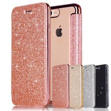 Funda abatible de cuero brillante para iPhone 11 Pro XS Max XR X 8 8Plus 7 7 Plus 6 6s Plus 5 5S SE claro trasero suave TPU funda