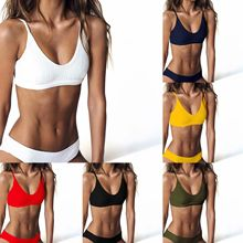 цена Swimsuit Swimwear Women High Waist Tankini Bikini Set Push Up Bathing Suit Beachwear Plus Size Swimwear онлайн в 2017 году