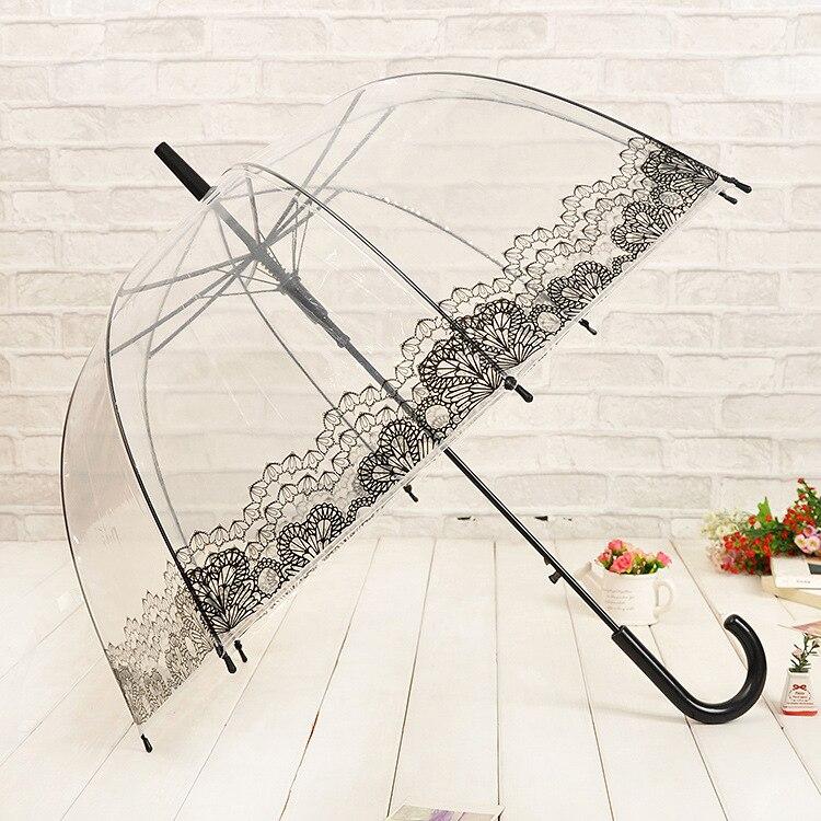 Lace հովանոց թափանցիկ պլաստիկ PVC Umbrella - Կենցաղային ապրանքներ