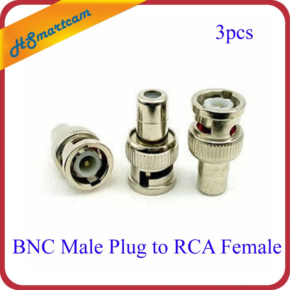 BNC Male Plug To RCA Female Jack Coax Cable Connector Coupler Adapter Communication Converter For CCTV HD AHD CAMERA DVR Ktis