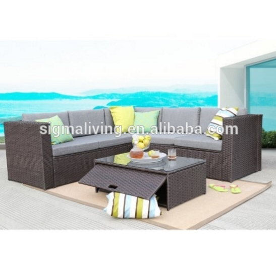 US $688.75 5% OFF|Best selling affordable outdoor furniture double sofa  rattan sofa set-in Garden Sofas from Furniture on AliExpress