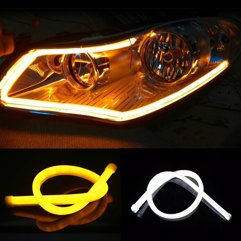 Angel Eye 2x Daytime Running Light Universal Tube Guide Soft and Flexible Car LED Strip DRL