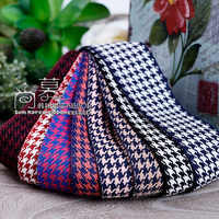 10/100yards 10/15/25/40mm hound-tooth check korean flax cotton ribbon for hair bow accessories bouquet gift packing
