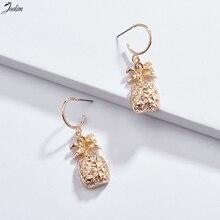 JOOLIM Gold & Silver Pineapple Coconut Tree Hoop Earring