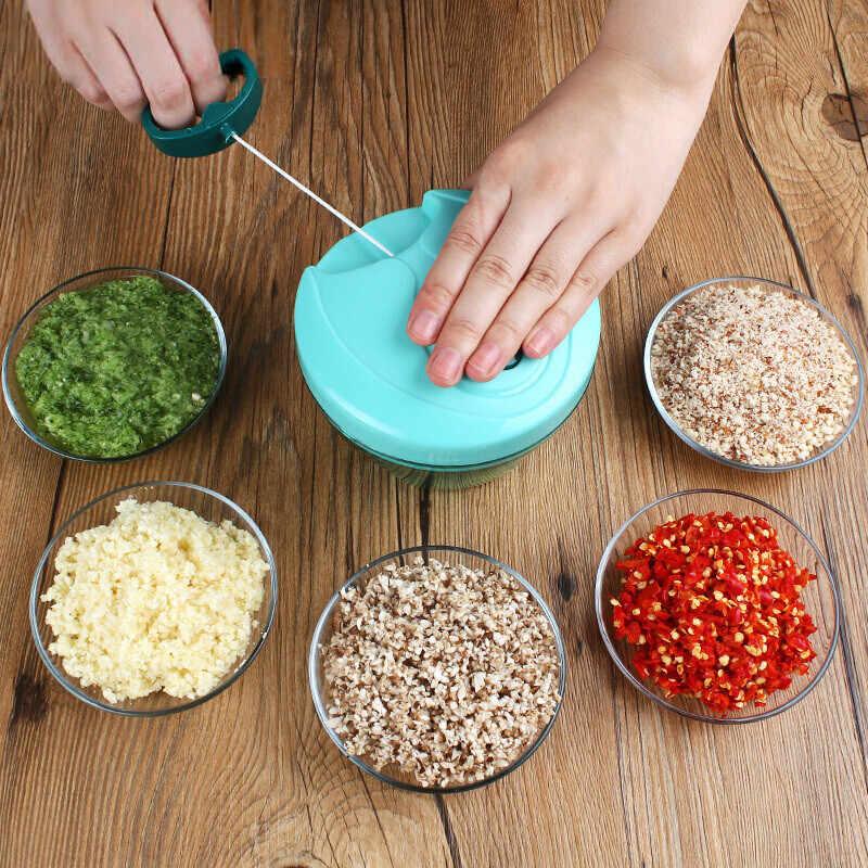 485 ML Manual Do Moedor de Carne Mão-power Food Chopper Mincer Mixer Blender para Cortar a Carne Fruta Vegetal Shredder Nozes alta Qualidade