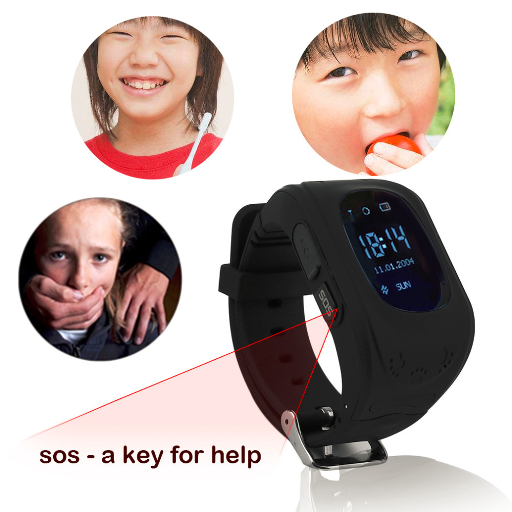 Q50 Smart Watch for Kids Children LCD GSM GPRS Locator Tracker Anti-Lost phone support Kids Watch for IOS Android Without GPS 9