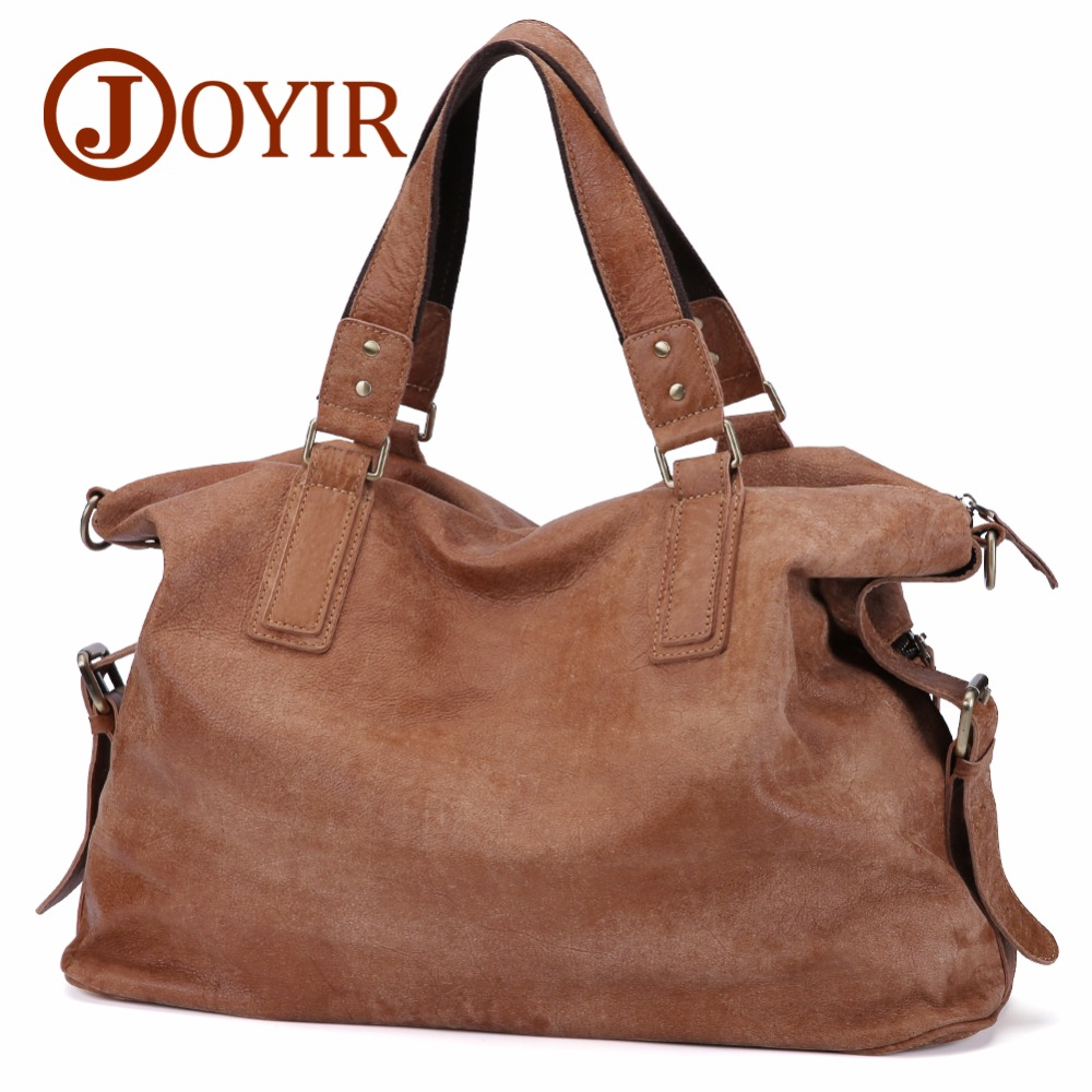 JOYIR Genuine Leather Shoulder Bags for Men Nubuck Vintage Handbag Large Retro Crossbody Mens Bags Casual Totes Messenger Bag nubuck leather shoulder bags for women 2018 fashion handbag vintage crossbody bag motorcycle casual totes bag sac bolsa feminina