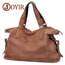 JOYIR-sacs à bandoulière en cuir véritable pour hommes, Nubuck Vintage, grand sac à main rétro, sacoche fourre-tout décontractés