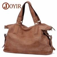 Joyir из натуральной кожи сумки на плечо для мужчин нубук винтажная сумка большая Ретро сумка через плечо Мужская s переносная Повседневная су...