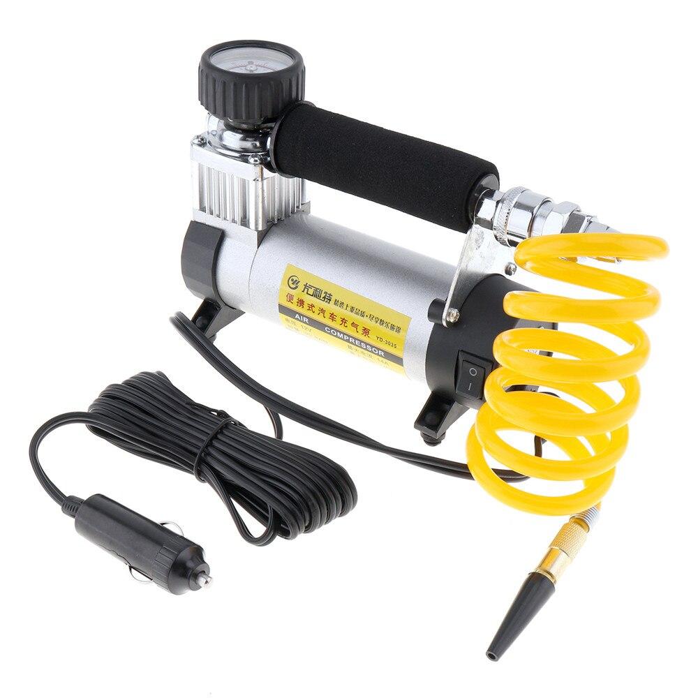 DC 12 V Auto voiture pneu gonfleur 100PSI voiture pompe à Air 35 L/MIN voiture pompes 100 W compresseur d'air pour voiture vélos motos
