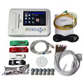 С сенсорным дисплеем 6-канальный электрокардиограф 12-цельный кабель ЭКГ/аппарат для ЭКГ + программное обеспечения для подключения к компьют...