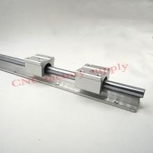 Бесплатная доставка SBR12 12 мм Rail L600mm линейный руководство с 2 шт. SBR12UU комплект ЧПУ часть линейный рельс